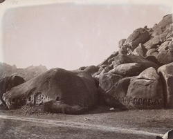 Rock sculptures at foot of Kauwa Dol Hill, Gaya District